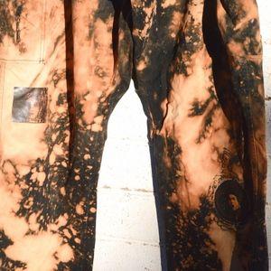 Anti Culture Pants - Black Tie Dye Reverse Bleach Medusa Pants Grunge